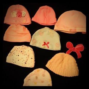 GIRL - newborn hats